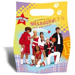 Pungute pentru cadouri copii la petreceri - High School Musical, Amscan 551386, Set 6 buc