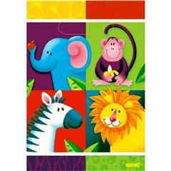 Pungute pentru cadouri copii la petreceri - Jungle Party, Amscan 375028, Set 8 buc
