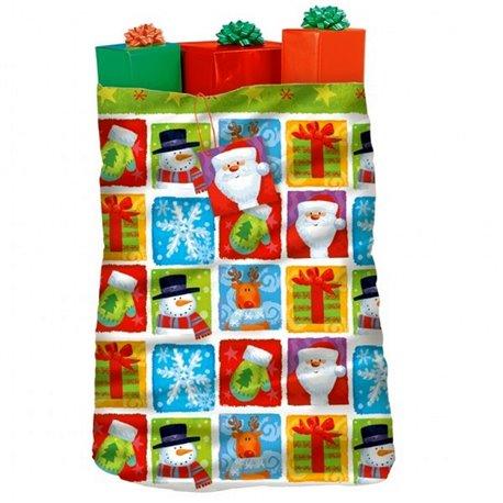 Sacul lui Mos Craciun pentru cadouri, Amscan 470006, 1 buc