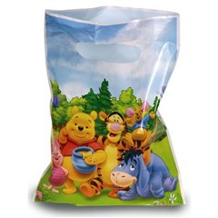 Winnie the Pooh Treat Bags - Party Supplies, Amscan RM550131, Pack of 6 pieces
