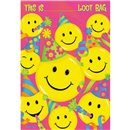 Pungute pentru cadouri copii la petreceri - Smiley Face, Amscan 37856, Set 8 buc