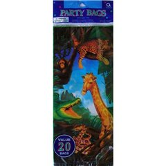 Safari Party Treat Bags - Party Supplies, Amscan 376501, Pack of 20 pieces