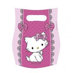 Pungute pentru cadouri copii la petreceri - Charmmy Kitty, Amscan 551731, Set 6 buc