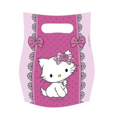 Pungute pentru cadouri copii la petreceri - Charmmy Kitty, Amscan RM551731, Set 6 buc