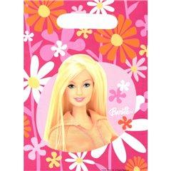 Pungute pentru cadouri copii la petreceri - Barbie, Amscan 550370, Set 6 buc
