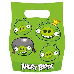 Pungute pentru cadouri copii la petreceri - Angry Birds, Amscan 552366, Set 6 buc