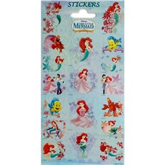The Little Mermaid Stickers, Radar 0765, Pack of 18 pieces