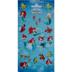 The Little Mermaid Stickers, Radar 766930, Pack of 18 pieces