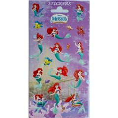 The Little Mermaid Stickers, Radar 0767, Pack of 14 pieces