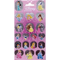 Disney Princess Stickers, Radar 0880, Pack of 19 pieces