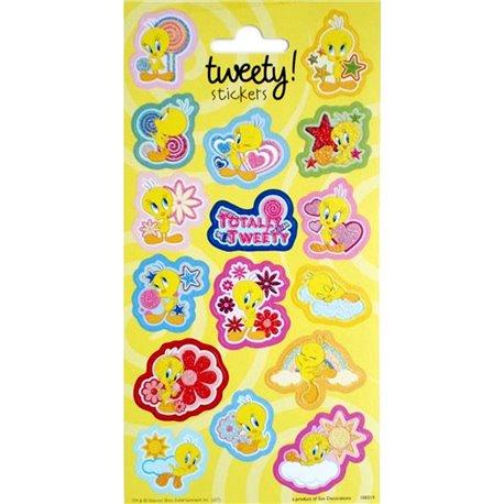 Stickere decorative pentru copii - Tweety, Radar 100319, Set 16 piese