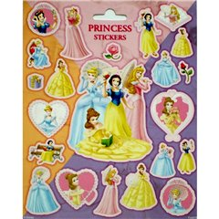 Disney Princess Stickers, Radar SDFRA0276, Pack of 22 pieces