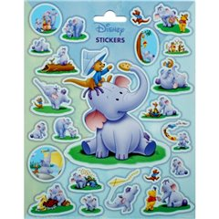 Heffalump Stickers, Radar SDFRA0274, Pack of 23 pieces