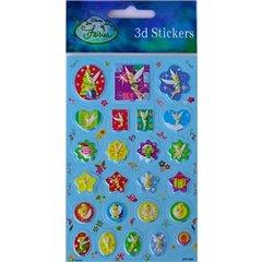 Stickere decorative 3D pentru copii - Fairies, Radar 51146, Set 24 piese