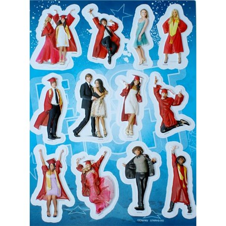 Stickere decorative 3D pentru copii - High School Musical, Radar 51165, Set 12 piese