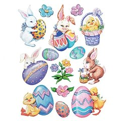 Easter Highlights Stickers, Amscan 150330, Pack of 14 pieces