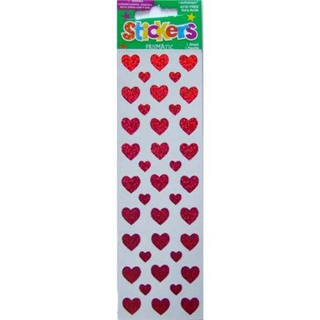 Stickere decorative cu inimioare pentru copii, Amscan 15327, Set 39 piese