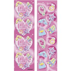 Princess Prismatic Strip Sticker, Amscan 159945, Pack of 8 sheets