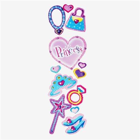 Stickere decorative pentru copii - Princess, Amscan 159178, Set 12 piese