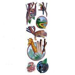 Stickere decorative pentru copii - Safari Party, Amscan 159202, Set 7 piese