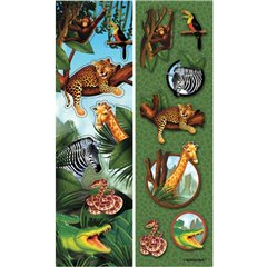 Stickere decorative pentru copii - Safari, Amscan 159947, Set 8 buc