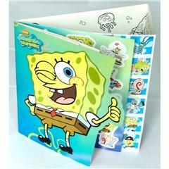 Carte cu stickere decorative pentru copii - SpongeBob, Radar 125010, 1 buc