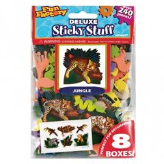 Stickere decorative pentru copii - Jungle Party, Amscan 151612, Set 200 piese