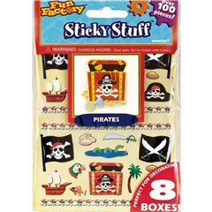 Childrens Pirate Party Skull and Crossbones Pirates Loot Bag Stickers, Amscan 151602, Pack of 100 pieces