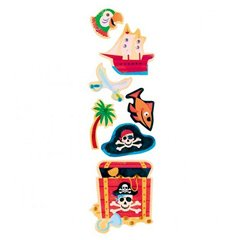 Pirates Treasure Stickers, Amscan 159877, Pack of 7 pieces