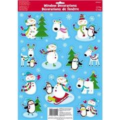 Joyful Snowman Vinyl Window Decorations, Amscan 459731