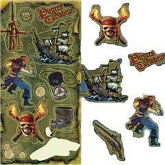 Stickere decorative pentru copii - Piratii din Caraibe, Radar 300020, Set 10 piese