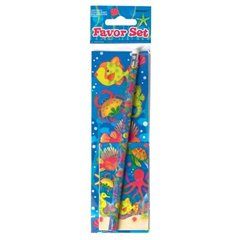 Set de colorat si stickere cu pestisori, Amscan 279780, 1 buc