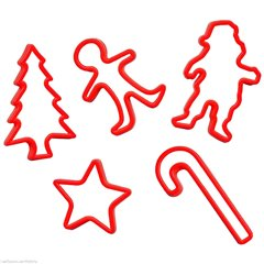 Christmas Cookie Cutters, Amscan 34930, Pack of 5 Pieces