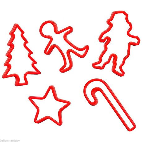 Christmas Cookie Cutters Amscan 34930 Pack Of 5 Pieces