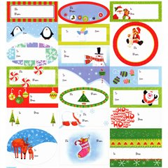Adhesive Gift Tags, Amscan 262006, Pack of 20 pieces