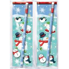 Set creion cu guma si sticker pinguin, Amscan 393107, 1 buc