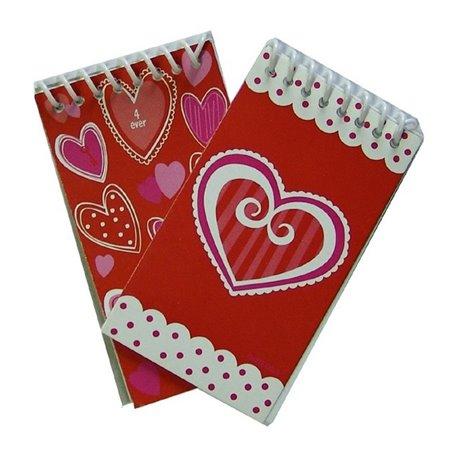 Carnetele cu inimioare, Amscan 391573, Set 12 buc