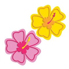 Flower Drink Coaster, Amscan 409688, Pack of 6 Pieces