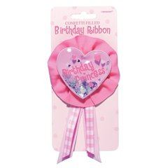 Pink Award Ribbon, Birthday Princess, Amscan 210010, 1 Piece