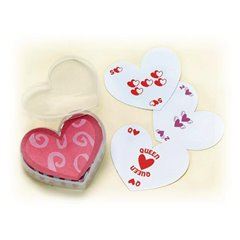 Heart shaped playing cards, Amscan 391516, 1 set