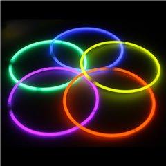 Bratari luminoase fluorescente multicolore Super Glow, Amscan 311010, Set 10 buc
