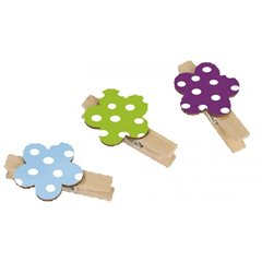 Deco clips Daisy, Amscan RM552223, Pack of 6 Pieces