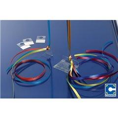 Suport plastic cu adeziv pentru fixare baloane umflate cu heliu, Conwin 36430, Set 100 buc