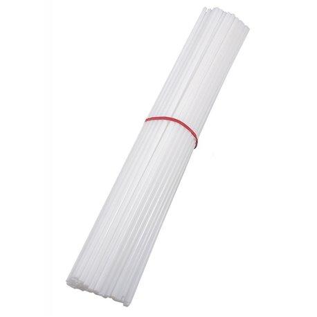 Bete albe din plastic pentru stegulete - 30cm, Radar BETE.A, Set 100 buc