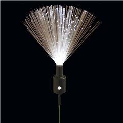 Fascicul luminos cu lumina alba intermitenta pentru decoratiuni, Qualatex 97575, Set 10 buc