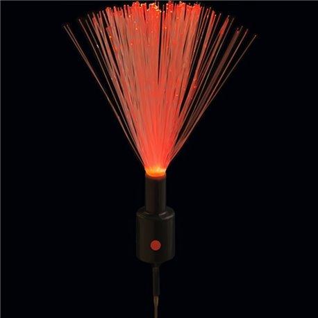 Fascicul luminos cu lumina roz intermitenta pentru decoratiuni, Qualatex 97690, Set 10 buc