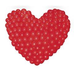Balloons Pro Heart Sculpture Drop Kit - 1.2 m, Qualatex 65068, Pack of 2 pieces