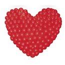 Plasa transparenta in forma de inima pentru baloane latex - 1.2 m, Qualatex 65068, Set 2 buc