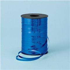 Blue Metallic Curling Ribbon 5mm x 250m, Qualatex 25915, 1 Roll