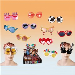 Plastic fun glasses for party, OOTB 18/3931, 1 piece